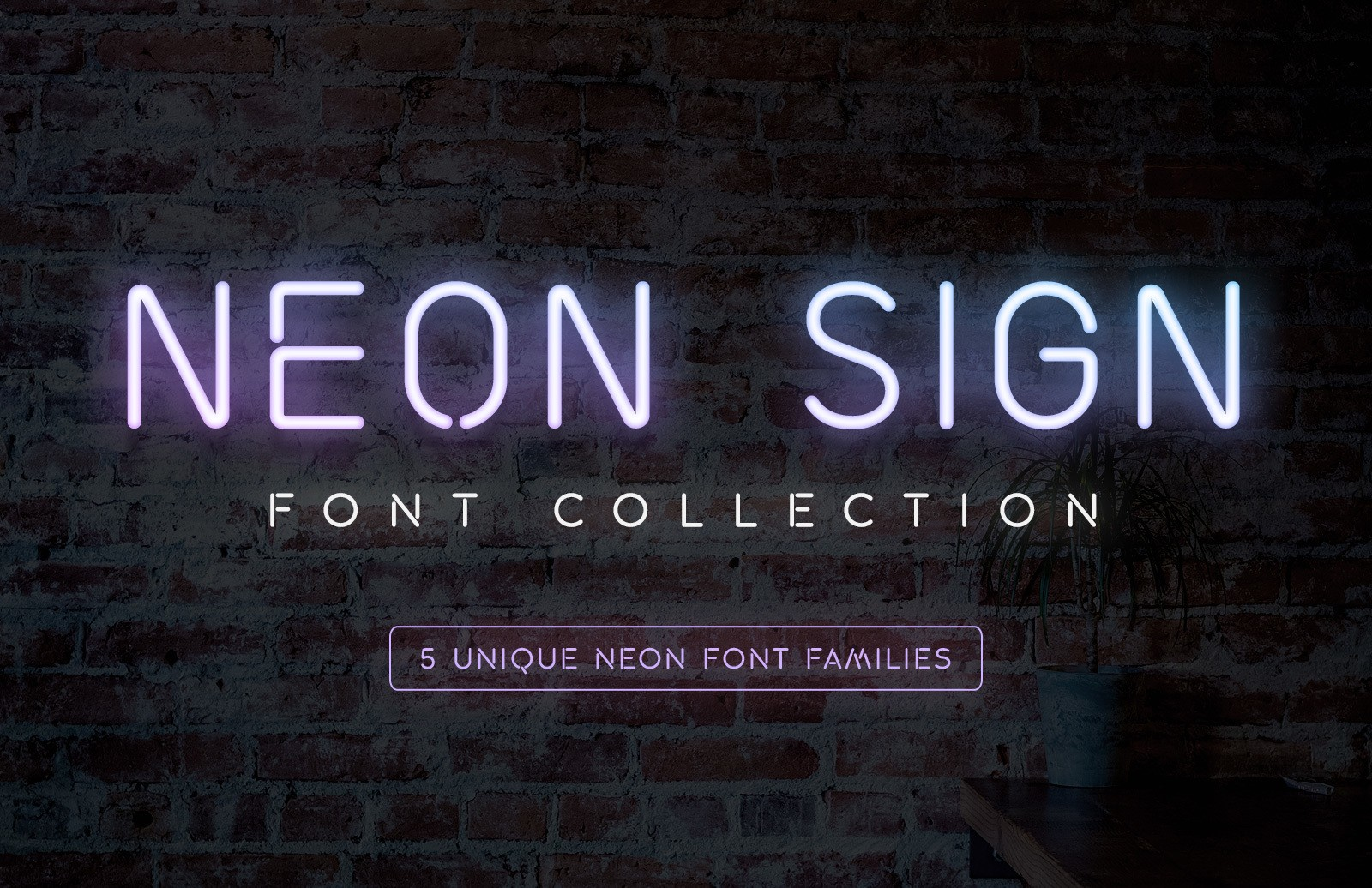 Neon Sign Font Collection Preview 1A