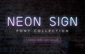 Neon Sign Font Collection