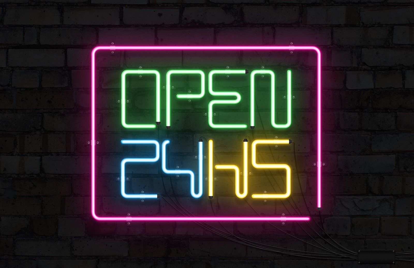 Neon Sign Mockup Preview 1