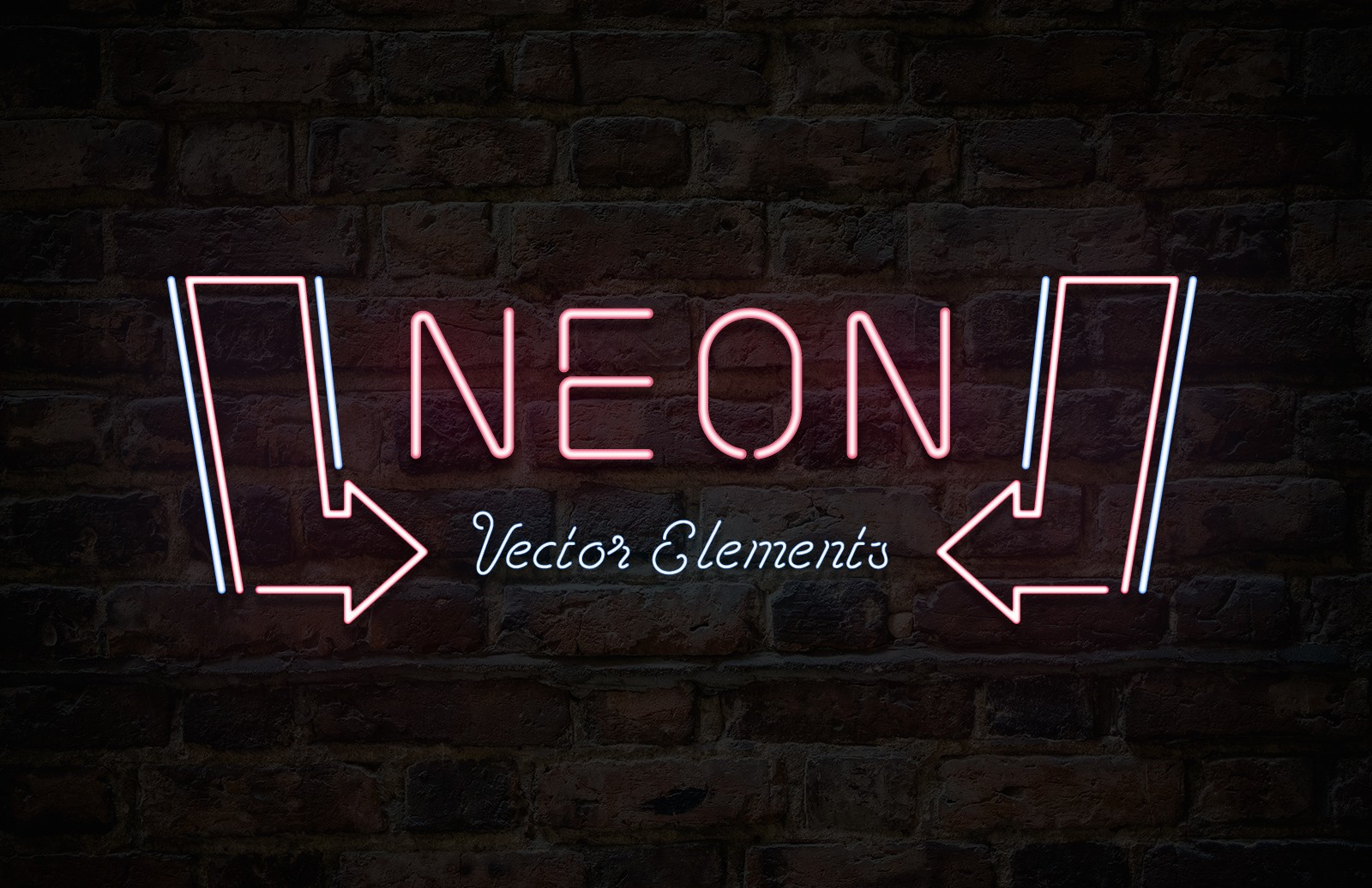 Neon Sign Vector Elements Preview 1D
