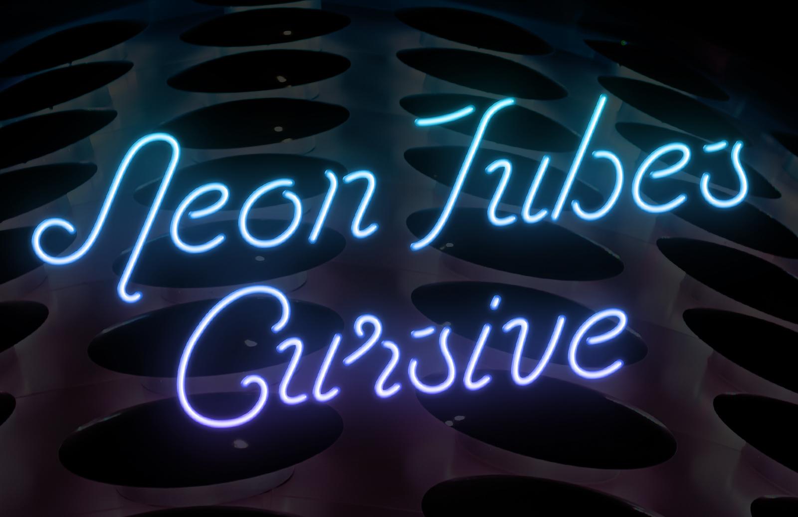Neon Tubes Cursive Preview 1