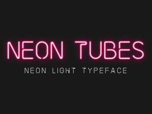 Neon Tubes - Neon Sign Font 1