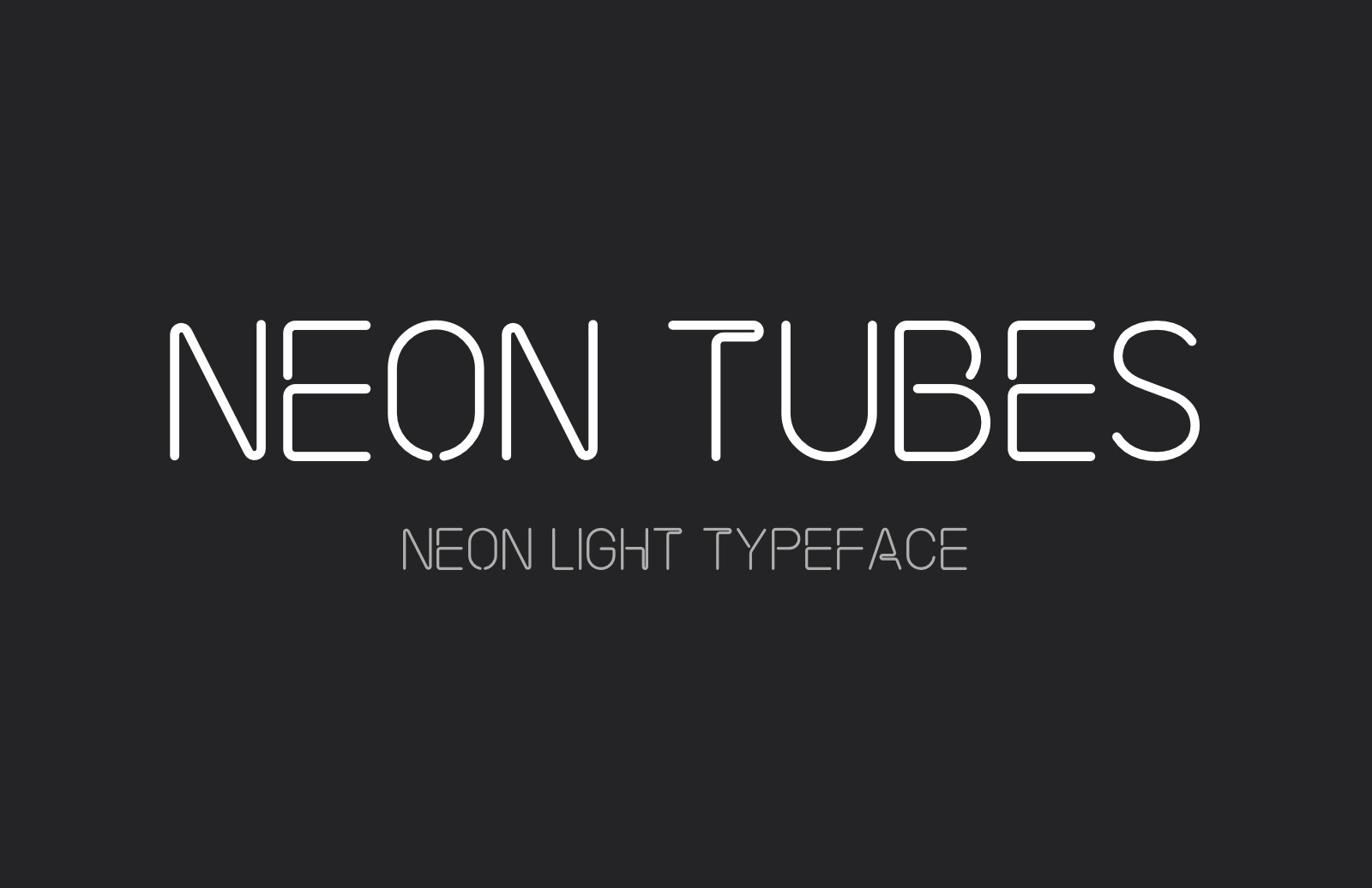 Large Neon  Tubes  Font  Preview 1