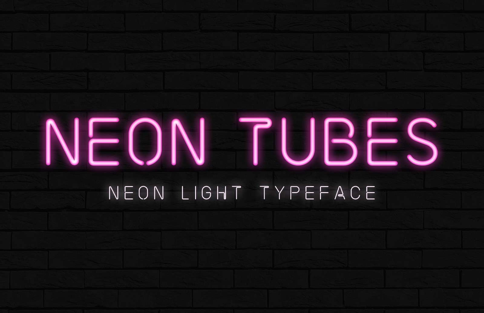 Neon Tubes Font Preview 2021 1A