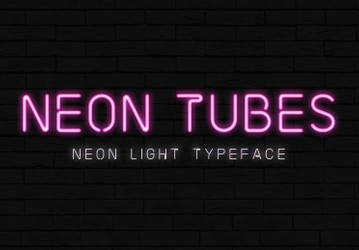 Neon Tubes - Neon Sign Font