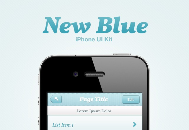 New Blue iPhone UI Kit