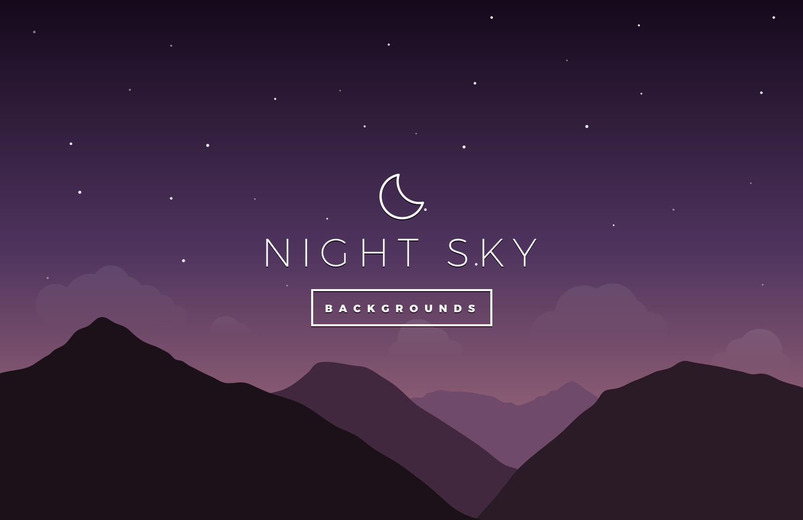 Night Sky Vector Backgrounds — Medialoot