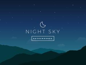 Night Sky Vector Backgrounds 2