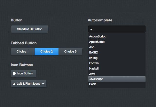 jQuery UI Theme: Noire
