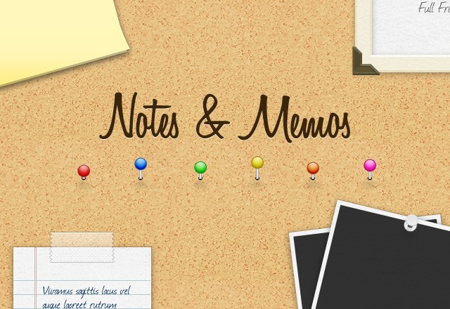 Vector Notes, Stickies & Memos