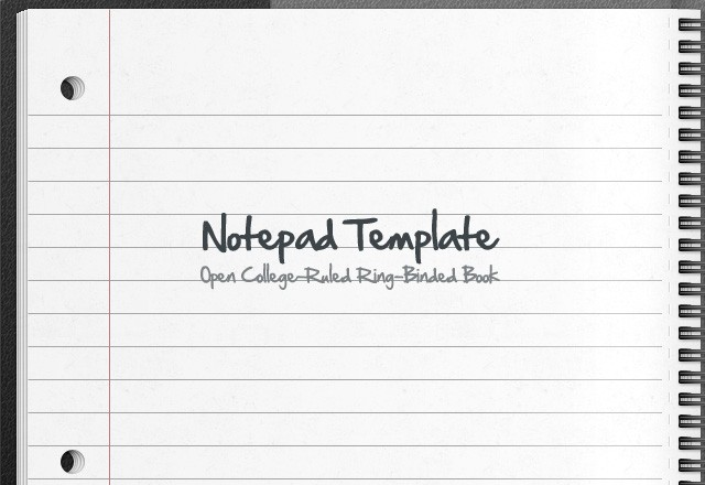 Vector Notepad Template