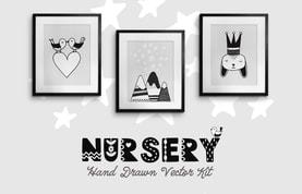 Nursery Hand Drawn Vector Kit