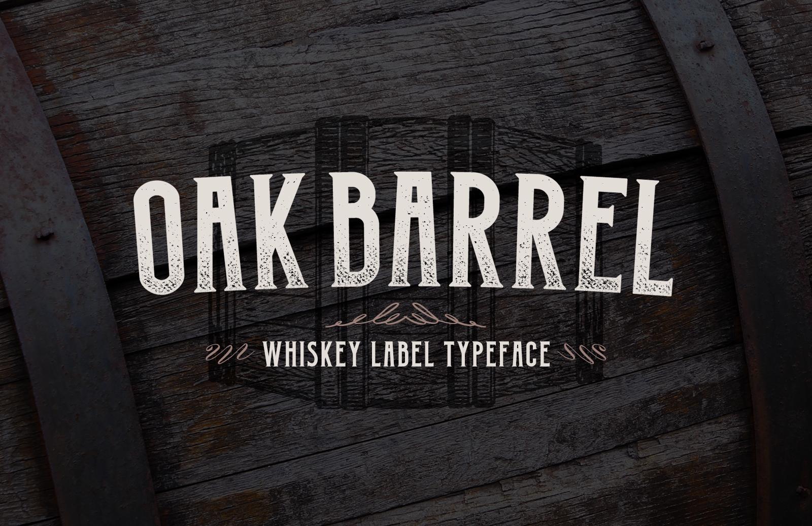 Oak Barrel - Whiskey Label Font