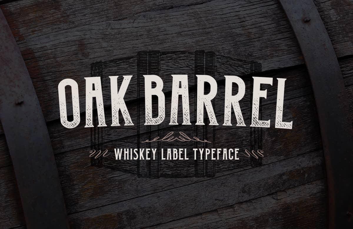 Oak Barrel Whiskey Label Font Preview 1A