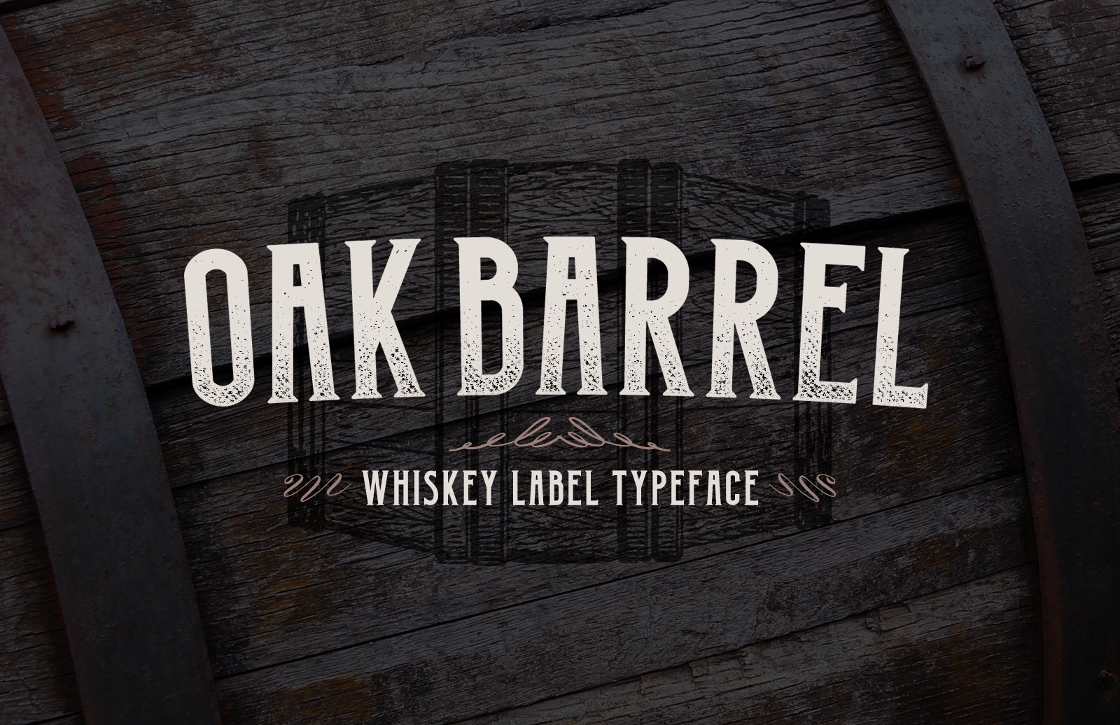 Oak Barrel Whiskey Label Font Preview 1A