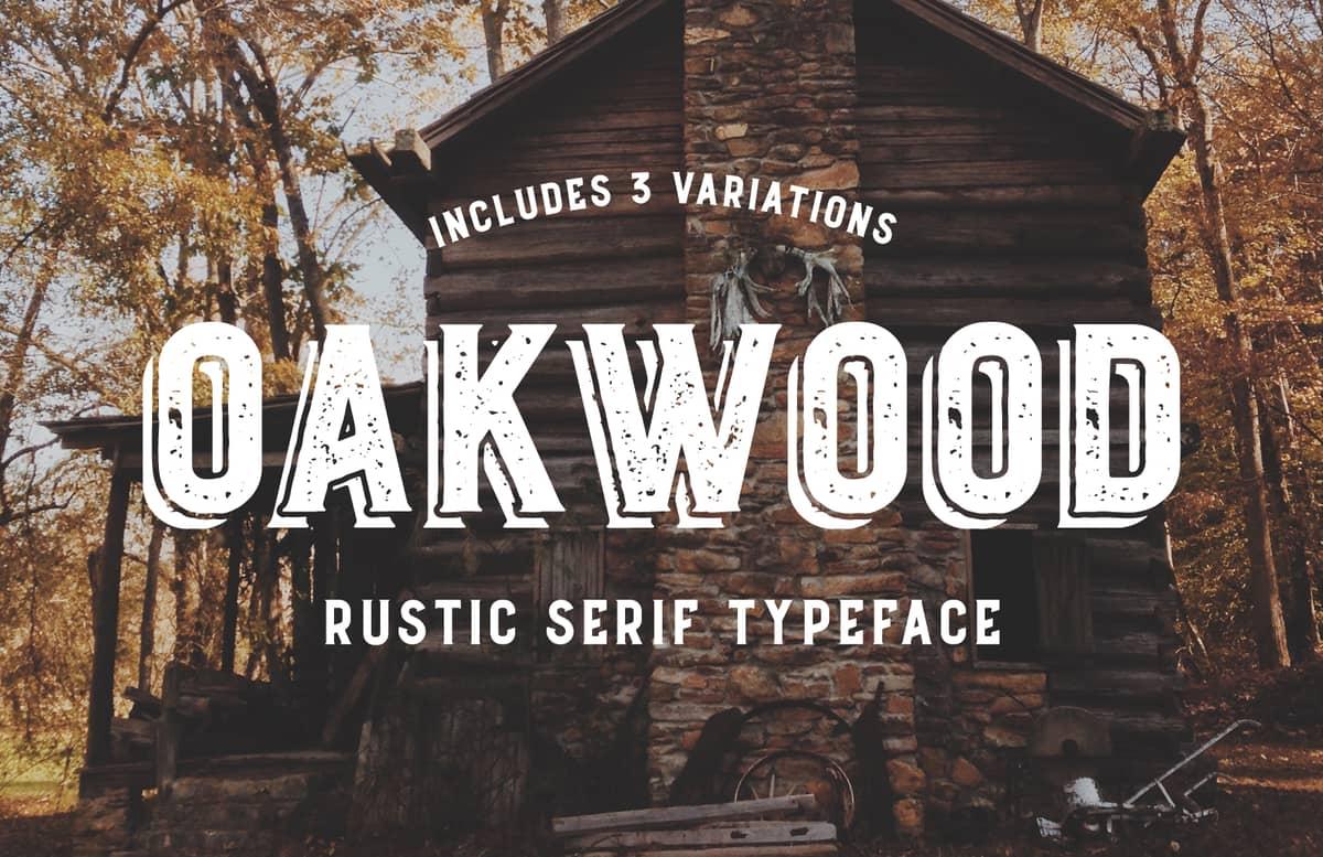 Oakwood Rustic Font Preview 1