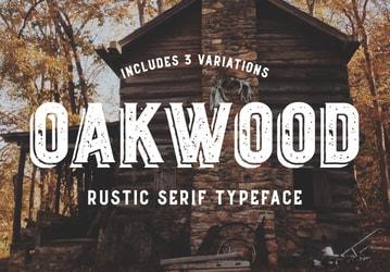 Oakwood - Rustic Font