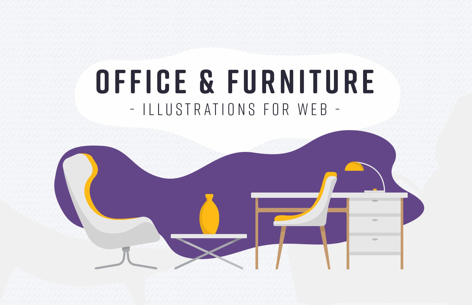 Office And Furniture Illustrations For Web Preview 1