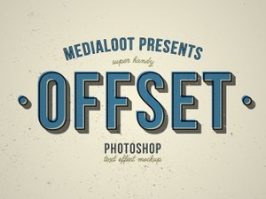 Offset Text Effect Mockup 1