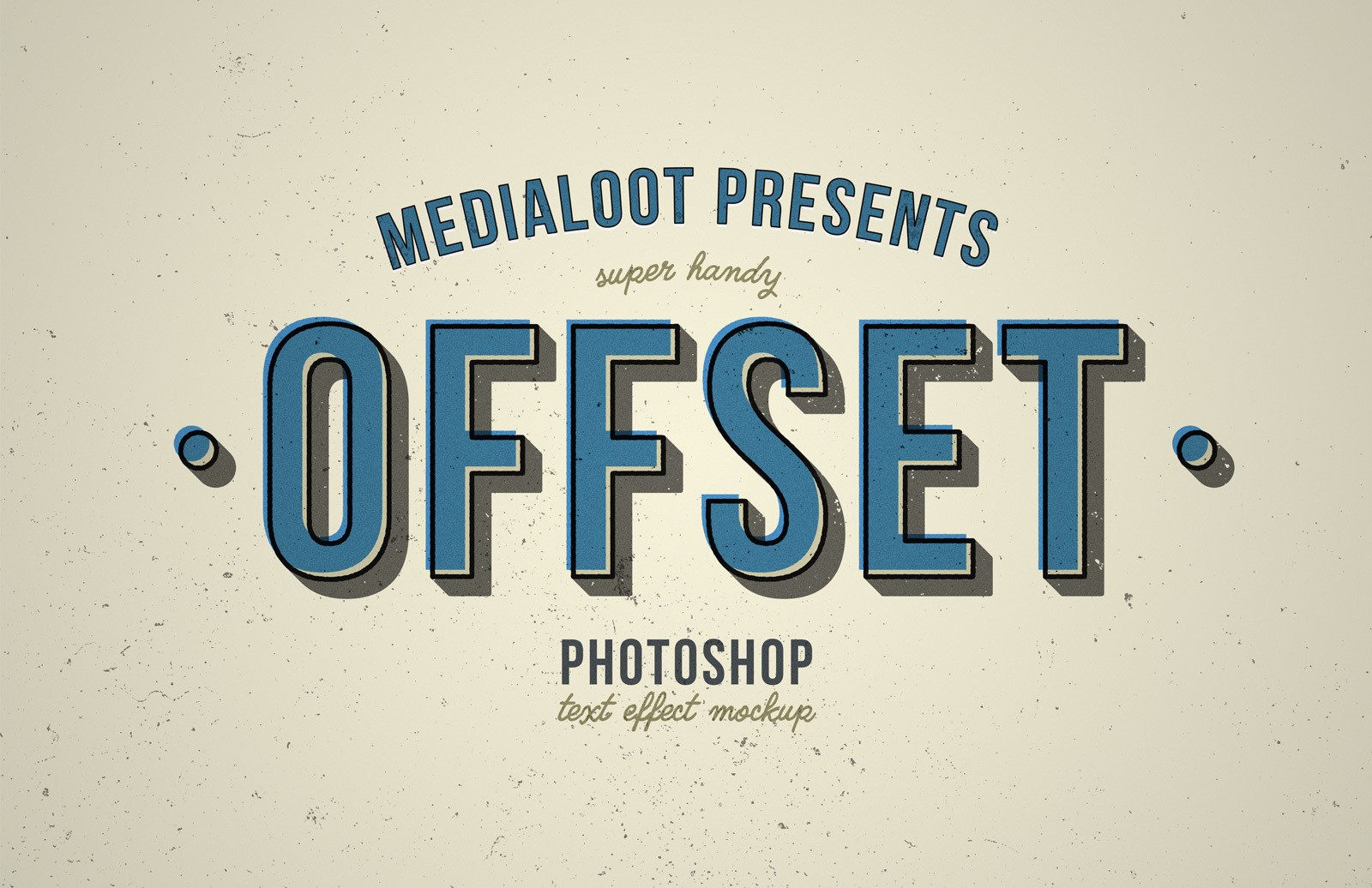 Offset Text Effect Mockup Preview 1