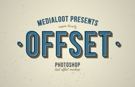 Offset Text Effect Mockup