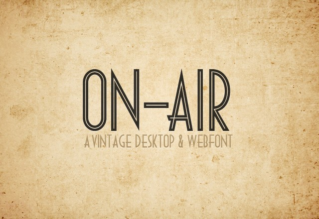 On Air Desktop & Web Font