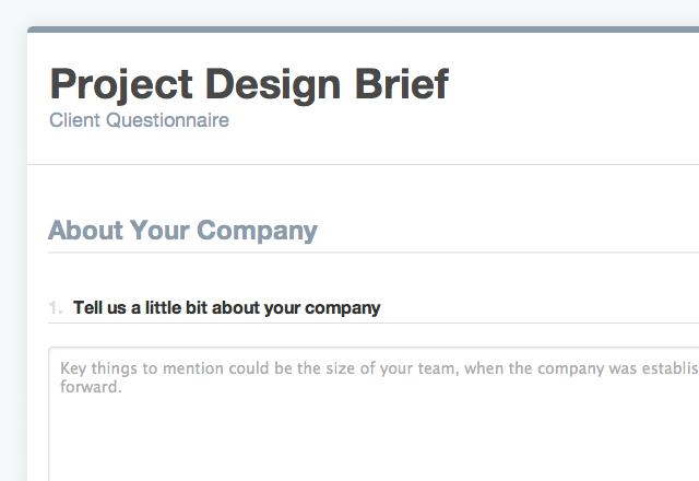 Online Design Brief