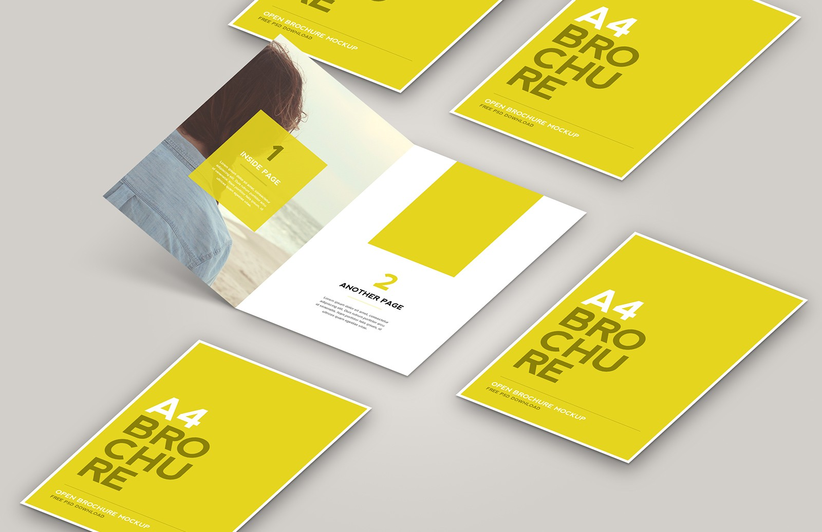 Large Open  Brochure  Mockup  Preview 1