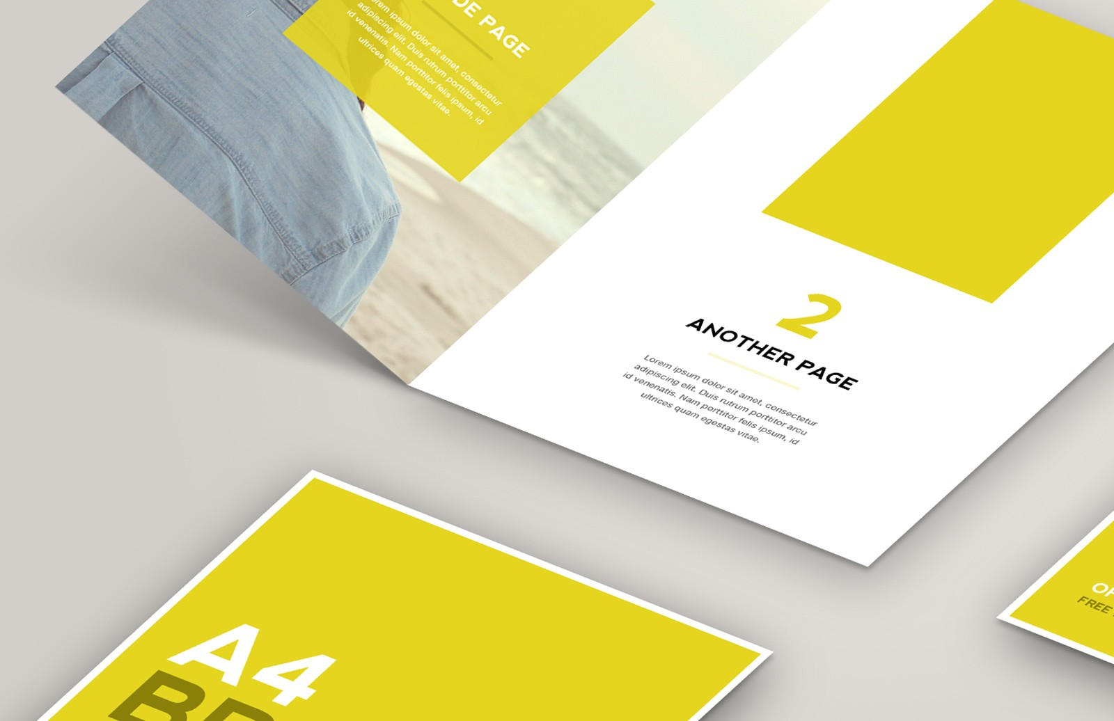 Large Open  Brochure  Mockup  Preview 2
