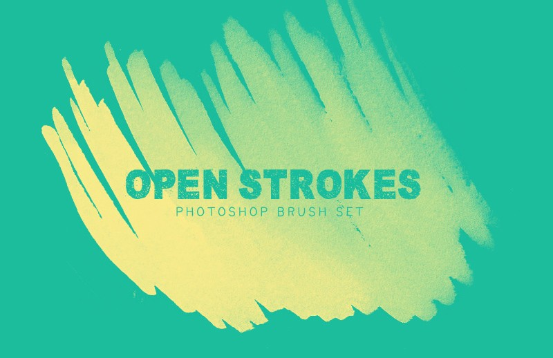 Large Open  Strokes  Brush  Set  Preview 1