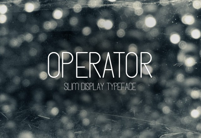 Operator - Slim Display Font