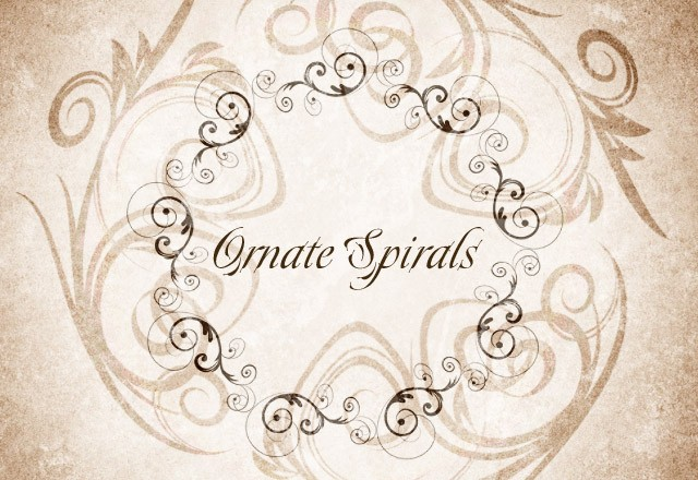 Large Ornate  Spirals  Preview1