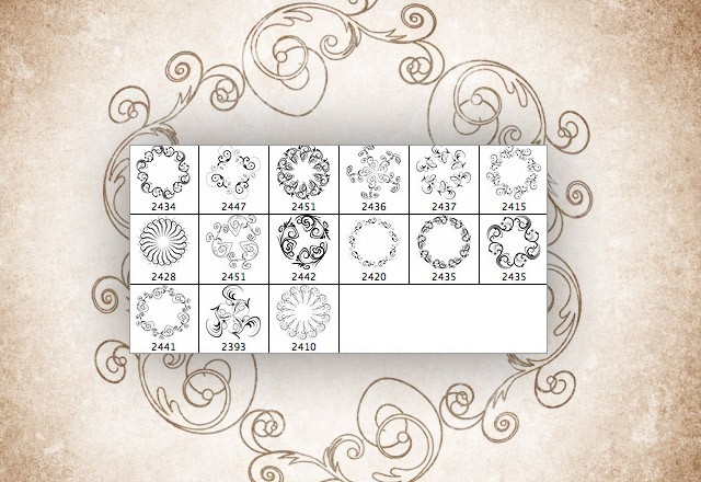Large Ornate  Spirals  Preview2