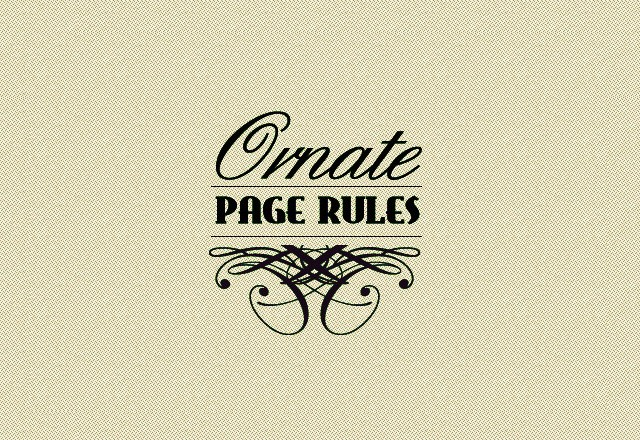 Ornate Vector Page Rules