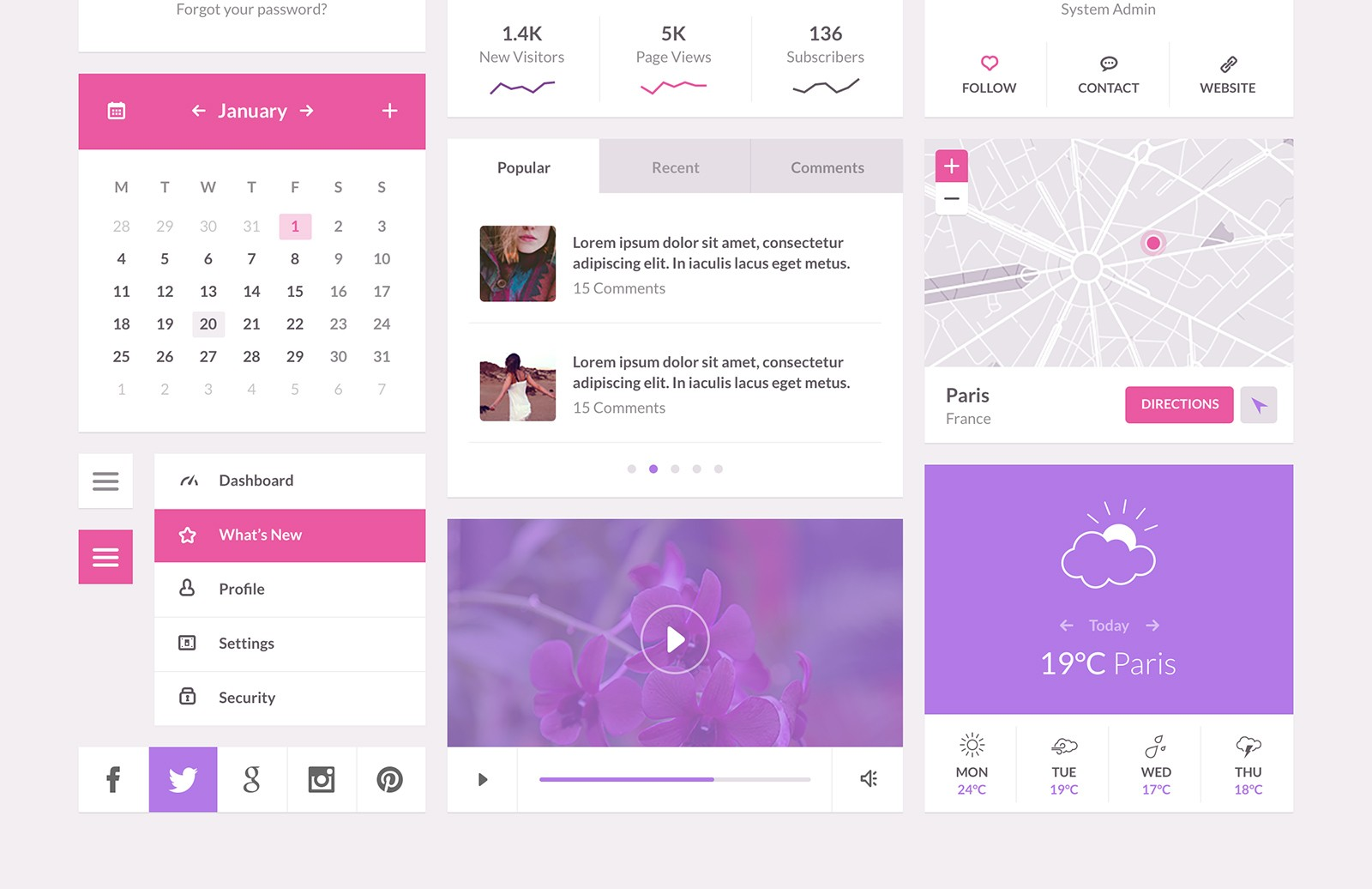 Large Orchid    Flat  Ui  Kit  Preview 2