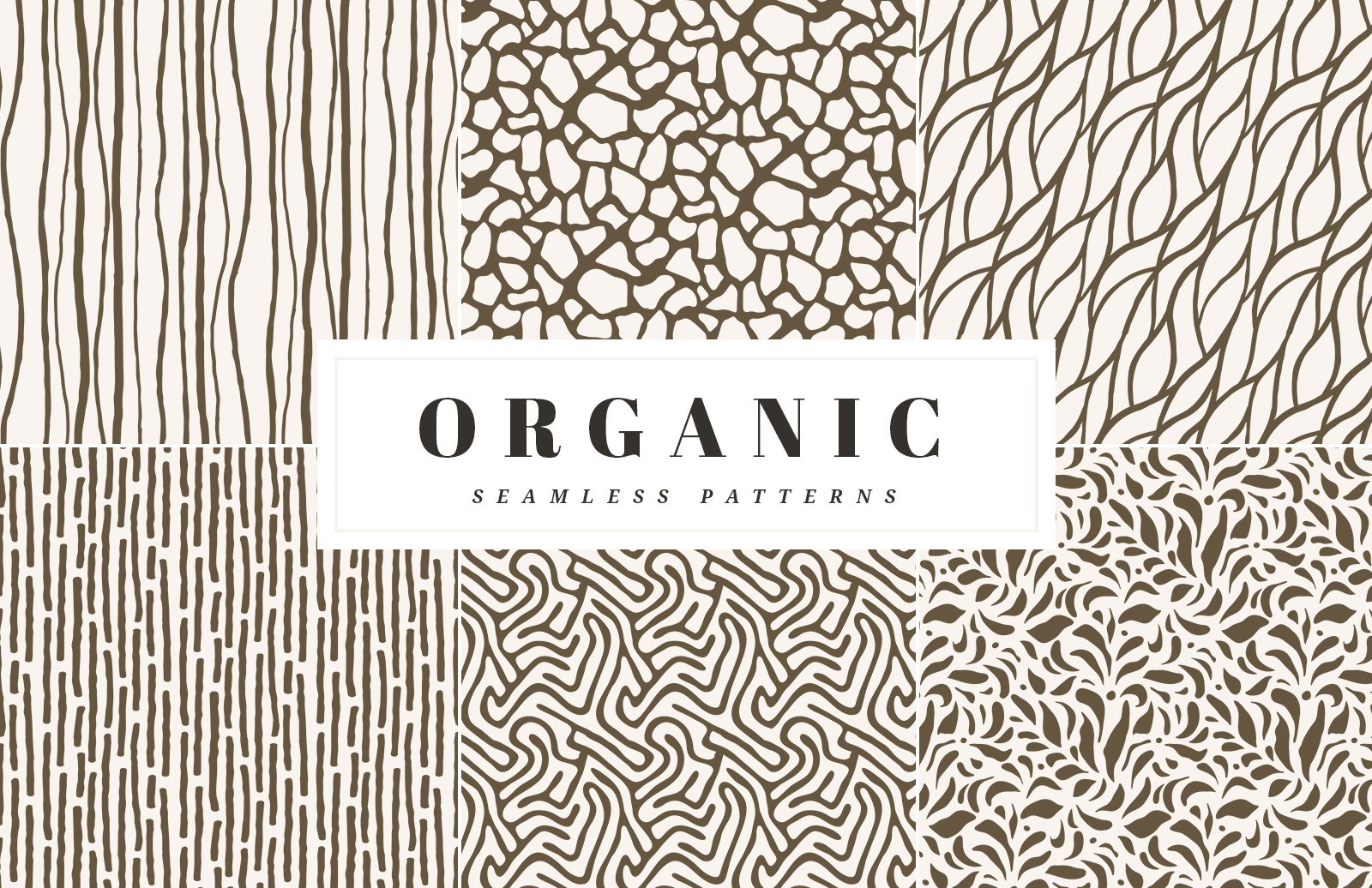 Organic Seamless Vector Patterns Preview 1