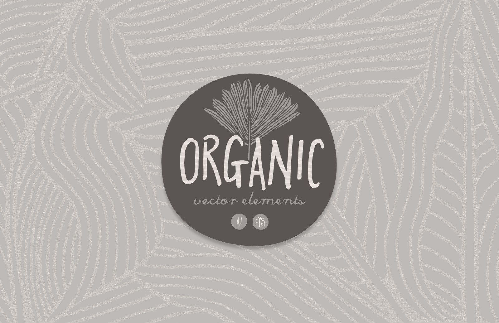 Organic Leaves Vector Elements