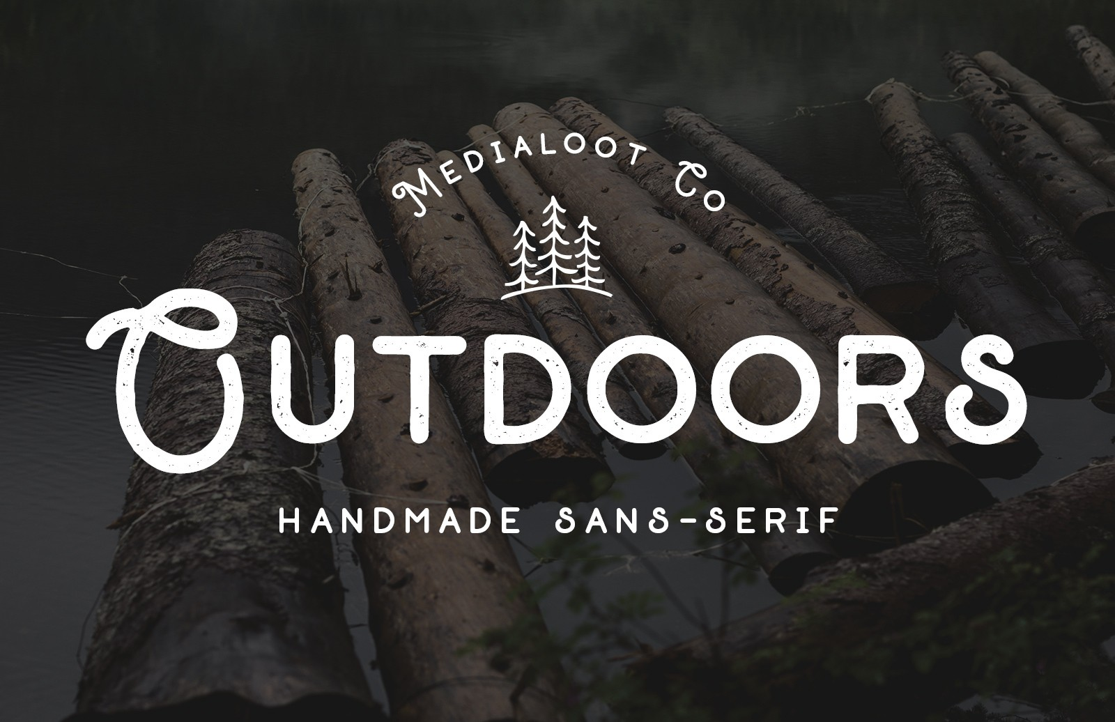 Outdoors Font Preview 1B