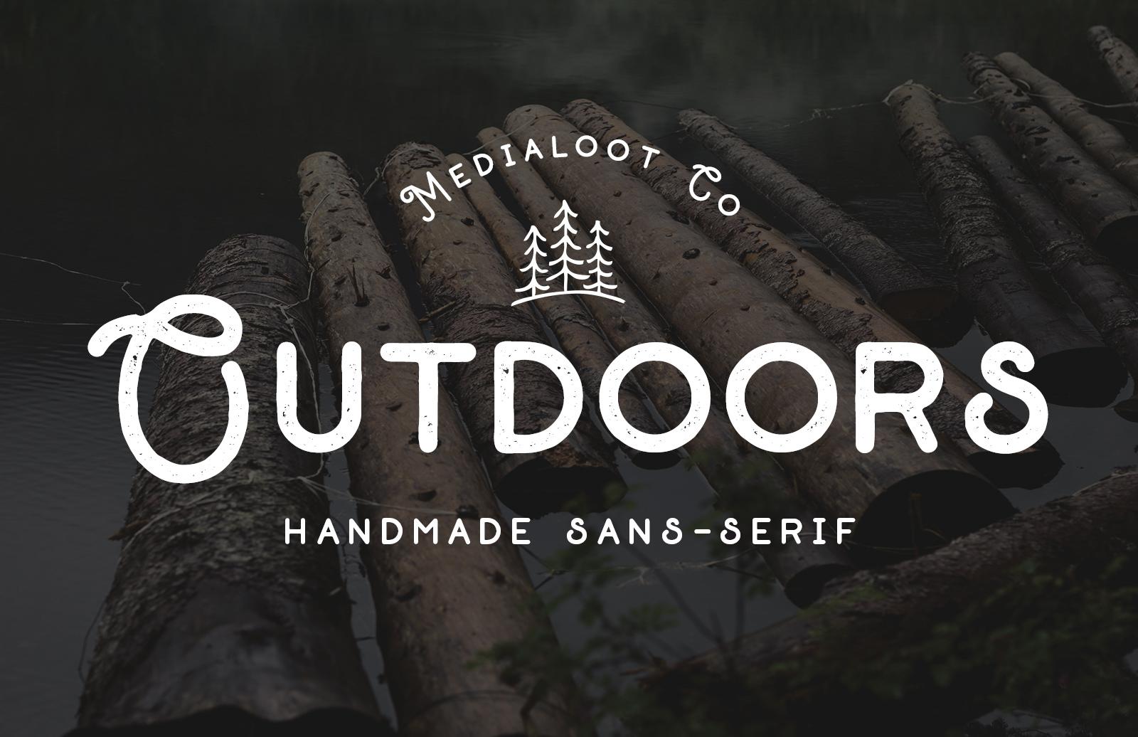 Outdoors - Handmade Sans Serif Font
