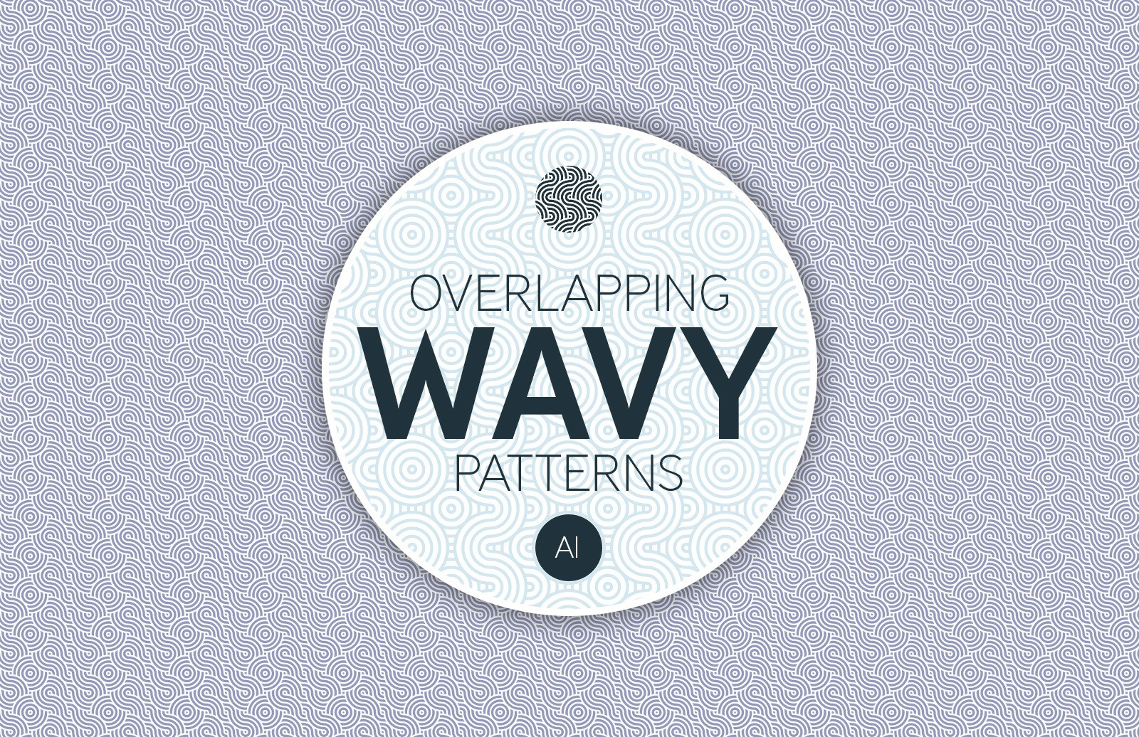 Overlapping Wavy Patterns Preview 1