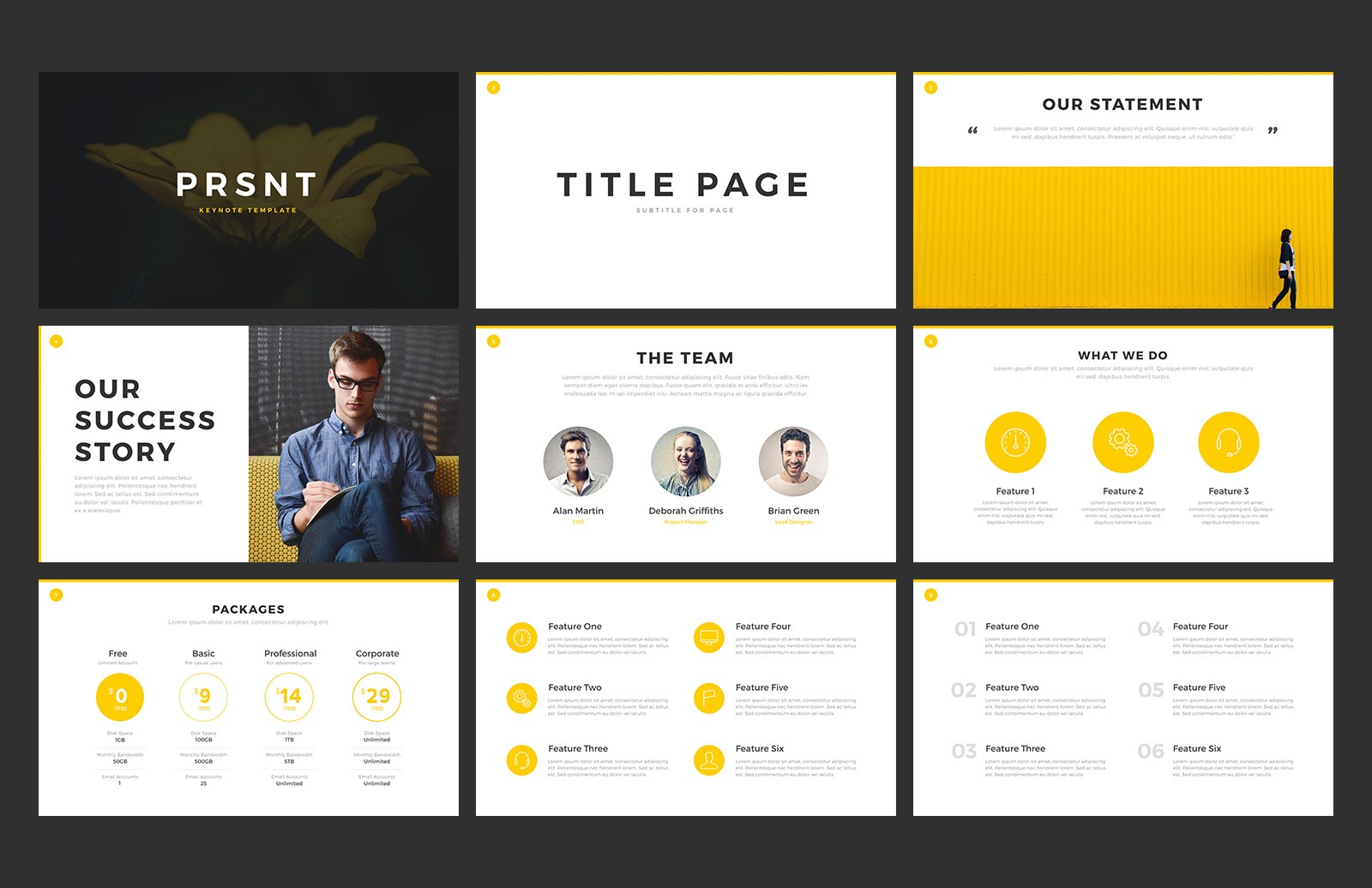PRSNT Keynote Template