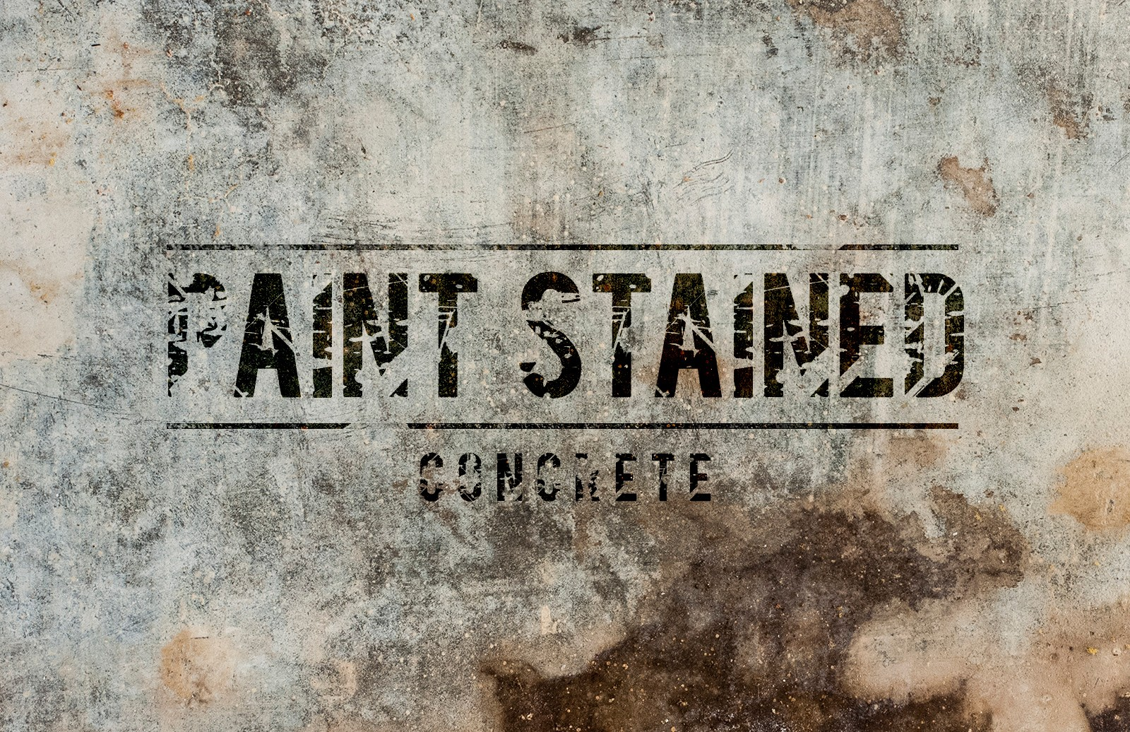 Paint Stained Concrete Brushes & Textures