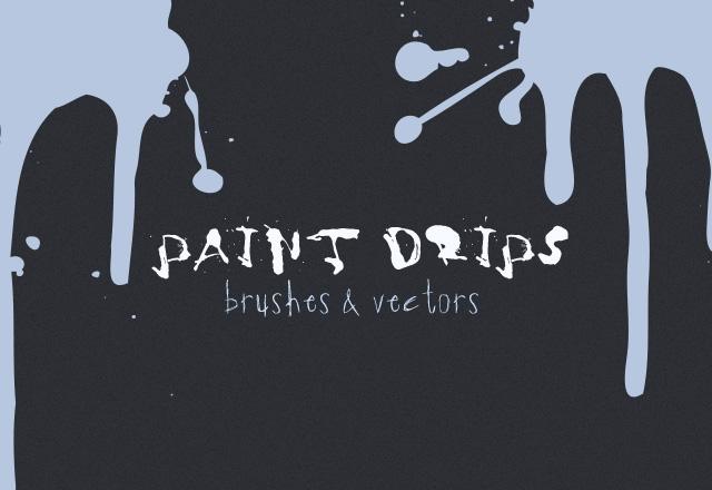 Vector Paint Drips