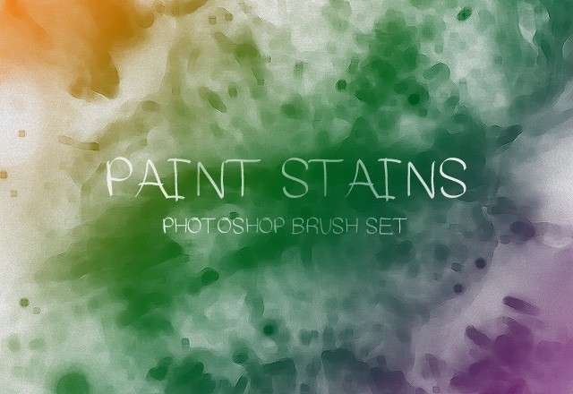 Paint Stains Brush Set