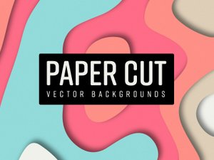 Paper Cut Vector Backgrounds 1