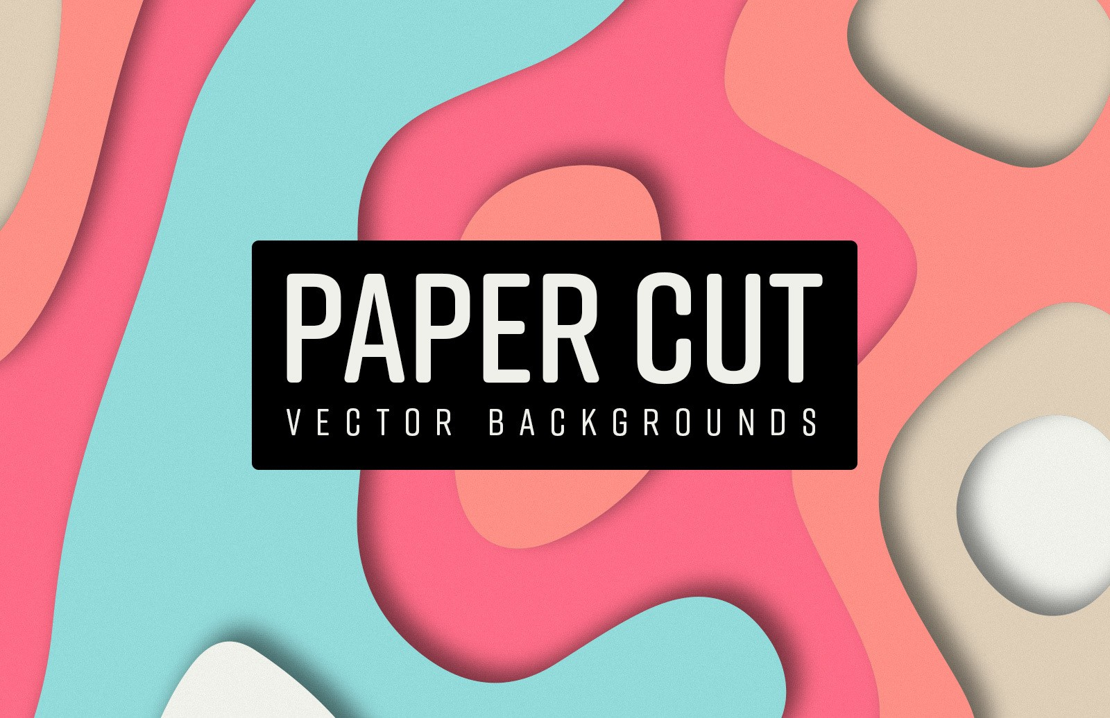 Paper Cut Vector Backgrounds Preview 1
