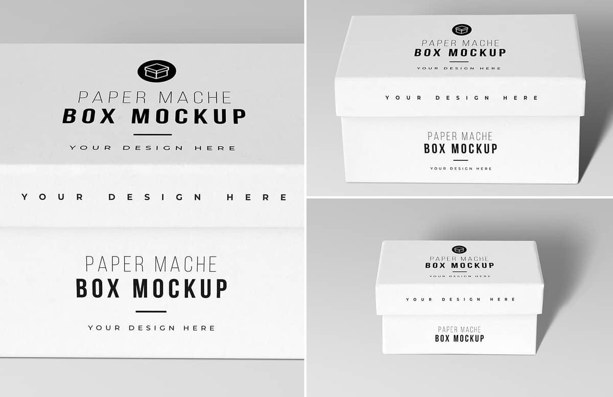 Paper Mache Craft Box Mockups Previews 1A