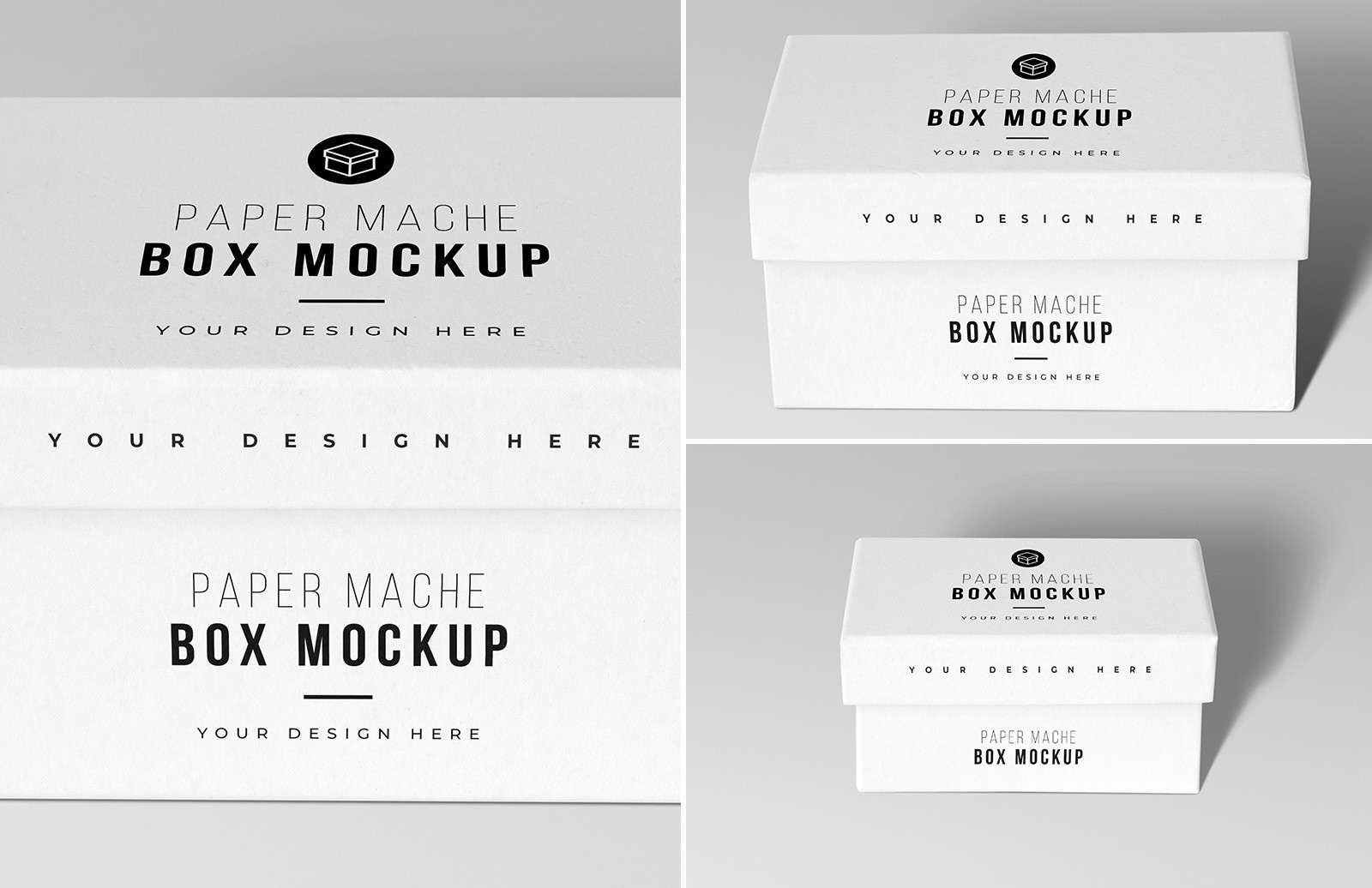 Paper Mache Craft Box Mockups Previews 1A