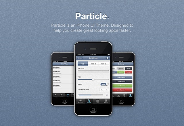Particle iPhone App UI Theme