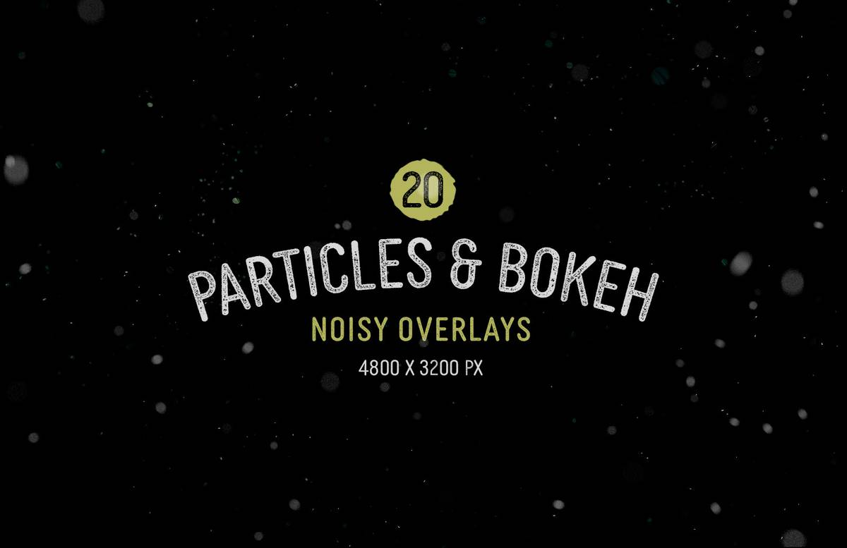 Particles And Bokeh Noisy Overlays Preview 1